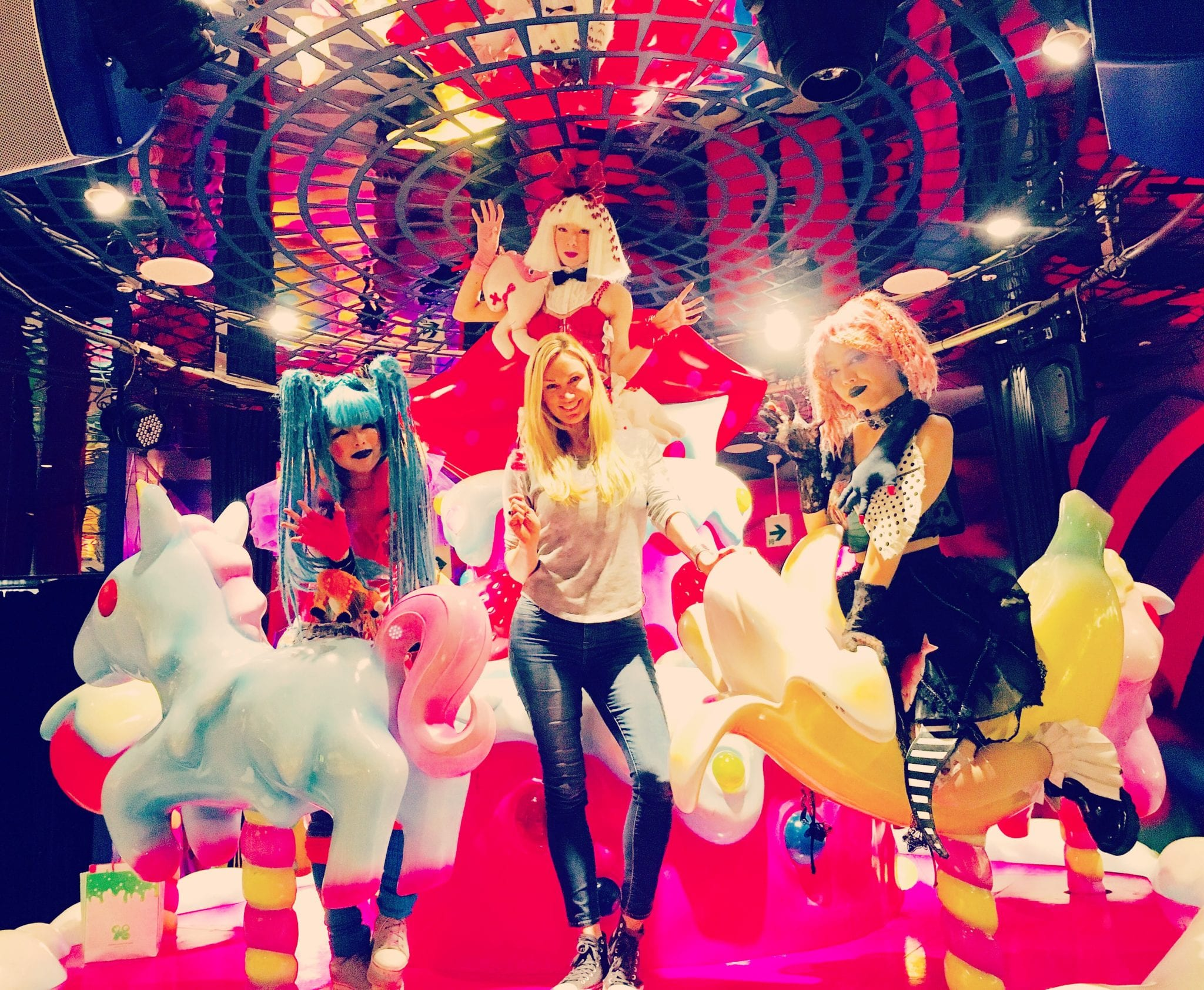 The Harajuku Girls at the Kawaii Monster Cafe in Tokyo Japan
