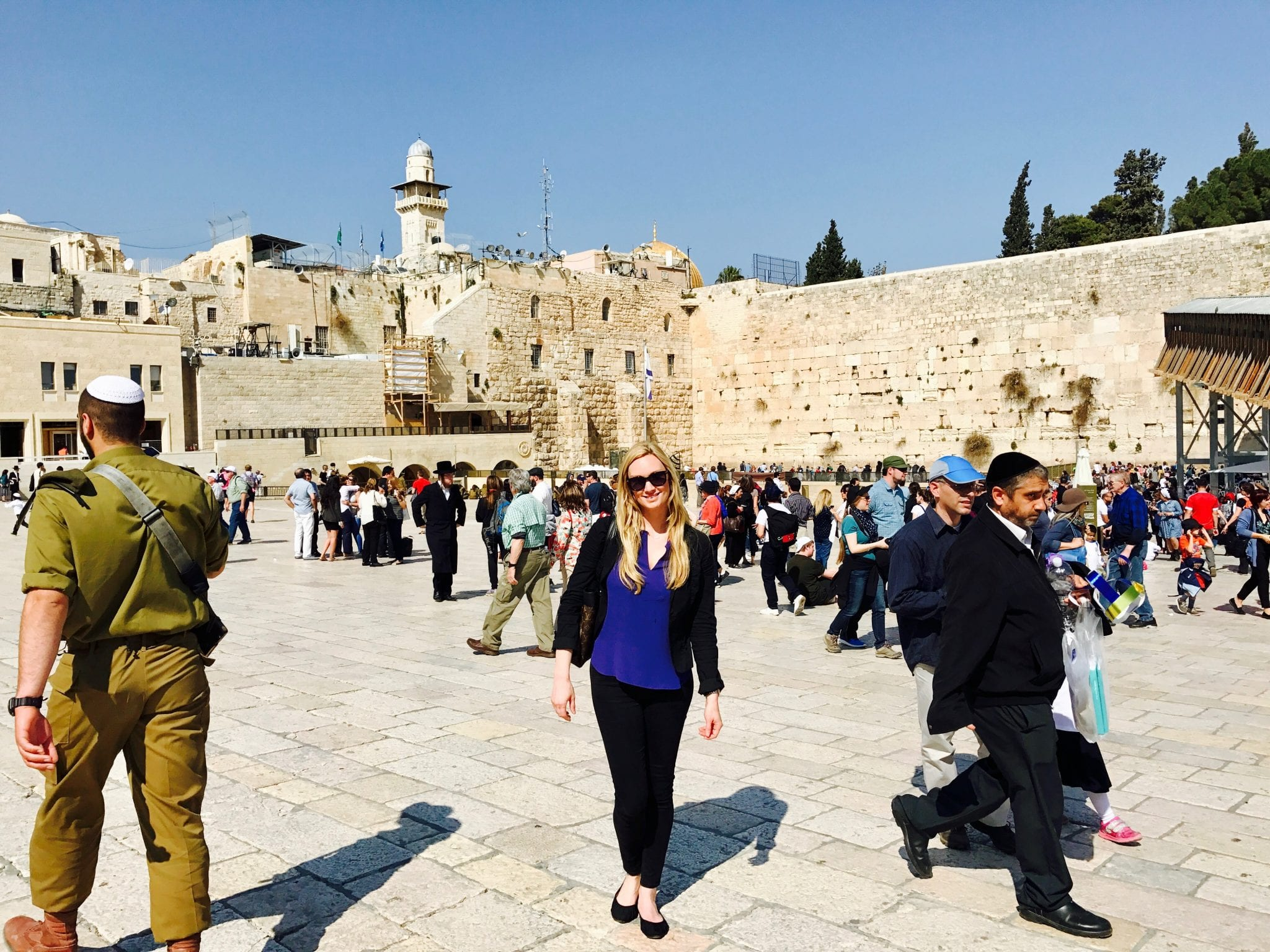 The Wailing Wall or Western Wall in Jerusalem