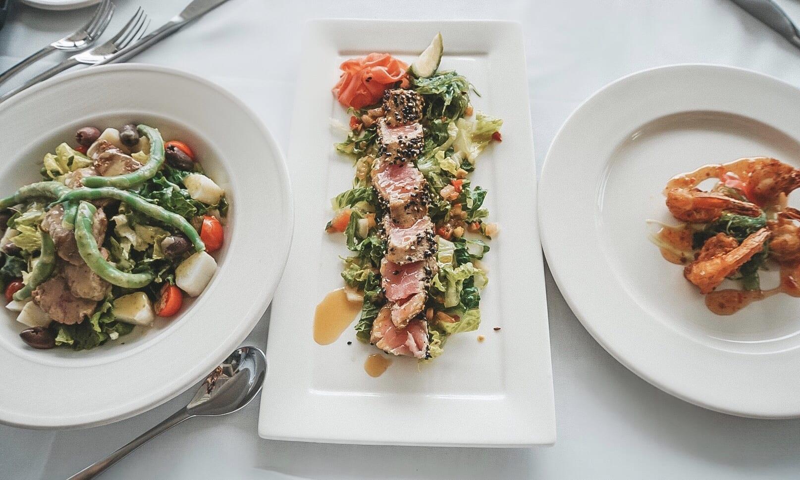 The food at Calabash Cove Resort
