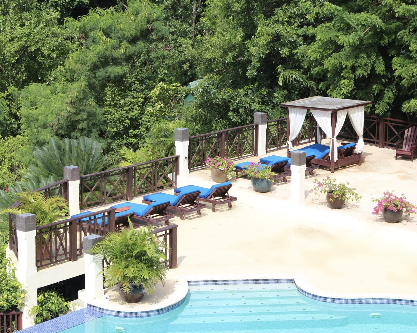 The pool at Calabash Cove St. Lucia