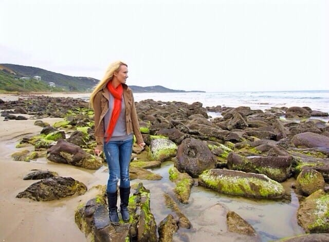 Kamelia on rocky coastline