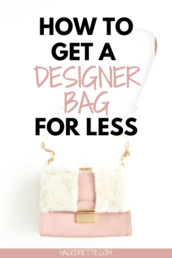 Looking for a luxury designer bag for less? If you are interested in buying designer bags for less than retail value, here are the tips and tricks for getting a designer purse for much less than you would pay at a typical retail store. Find out how to make sure the designer bag is real and my tips for getting the best deal on a designer bag. Stay on trend with the designer bag of your dreams without going broke! #designerbag #luxurylifestyle