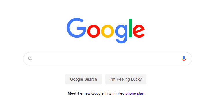 No Google, I'm not feeling lucky…