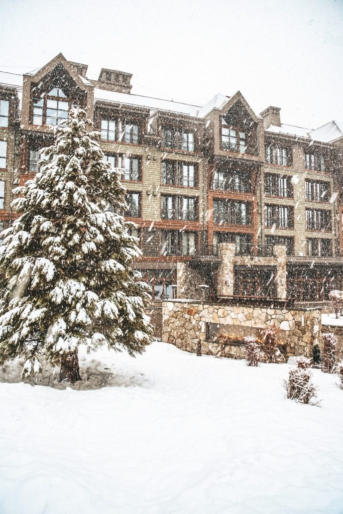 The Ritz Carlton Lake Tahoe in the fresh snow