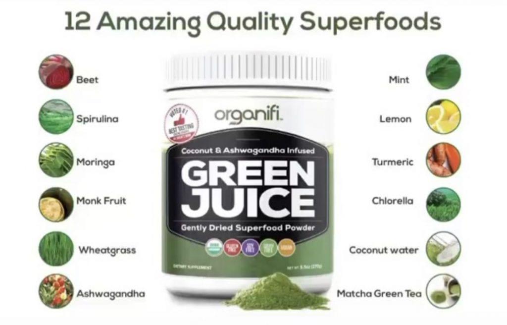 A list of 12 organic superfoods including Organic Chlorella
