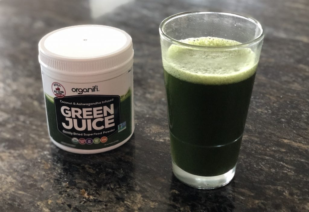 Organify Organic Chlorella as a drink