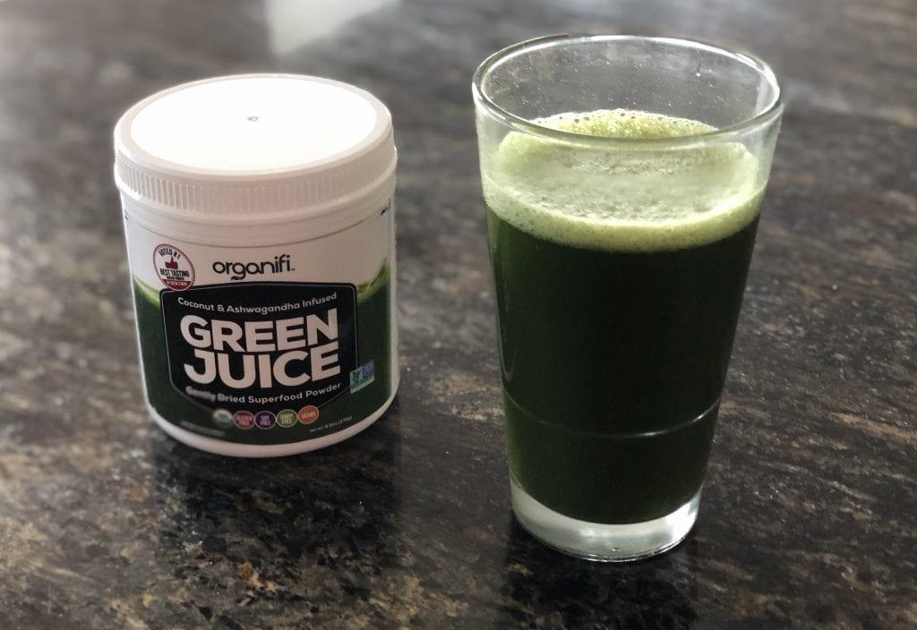 Organify Organic Chlorella as a drink