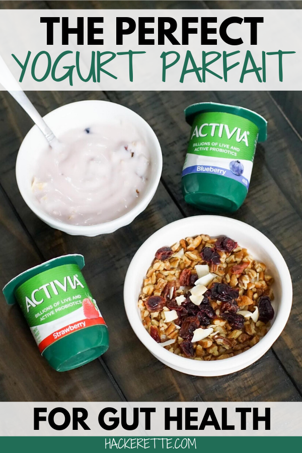 #ad Having a healthy diet along with daily probiotics helps keep you feeling good! This yogurt parfait recipe with Activia is a super easy and tasty way to enjoy your daily probiotics. ***Activia may help reduce the frequency of minor digestive discomfort. Consume twice a day for two weeks as part of a balanced diet and healthy lifestyle. Minor digestive discomfort includes bloating, gas, abdominal discomfort & rumbling. #activia #guthealth #probiotics