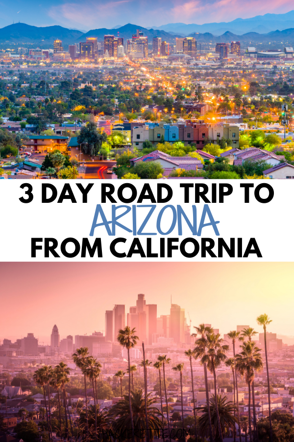 Escape with this 3 day road trip from California to Arizona. Drive from Los Angeles to Phoenix with this road trip itinerary. #roadtrip #travel | road trips from Los Angeles | road trips from California | western US road trips | road trips out west | west coast road trip | road trip to Phoenix Arizona | Phoenix Arizona things to do in | Havasu Falls Arizona | West Coast Road Trip itinerary | California to Arizona road trip | road trip to Arizona from California | Arizona to California road trips