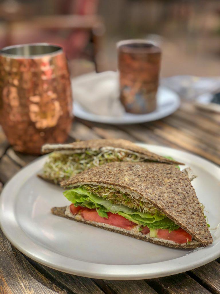 Raw vegan lunch in Sedona at ChocolaTree