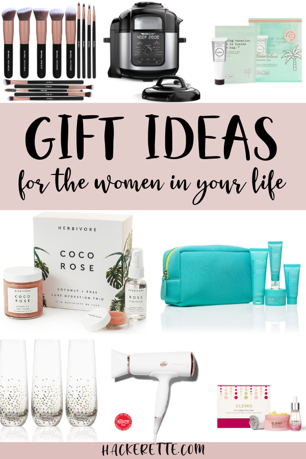 Get the complete gift guide for gift ideas for every woman on your list. From fashion gift ideas to beauty gift ideas to self care gift ideas, you'll find something for your mom, daughter, sisters, cousins, friends and co-workers on this list. #giftguide | gift ideas for her christmas | gift ideas for her women for christmas | gift ideas for women who have everything | gift ideas for women friends | gift ideas for women christmas | gift ideas for women birthday | gift guide women ideas