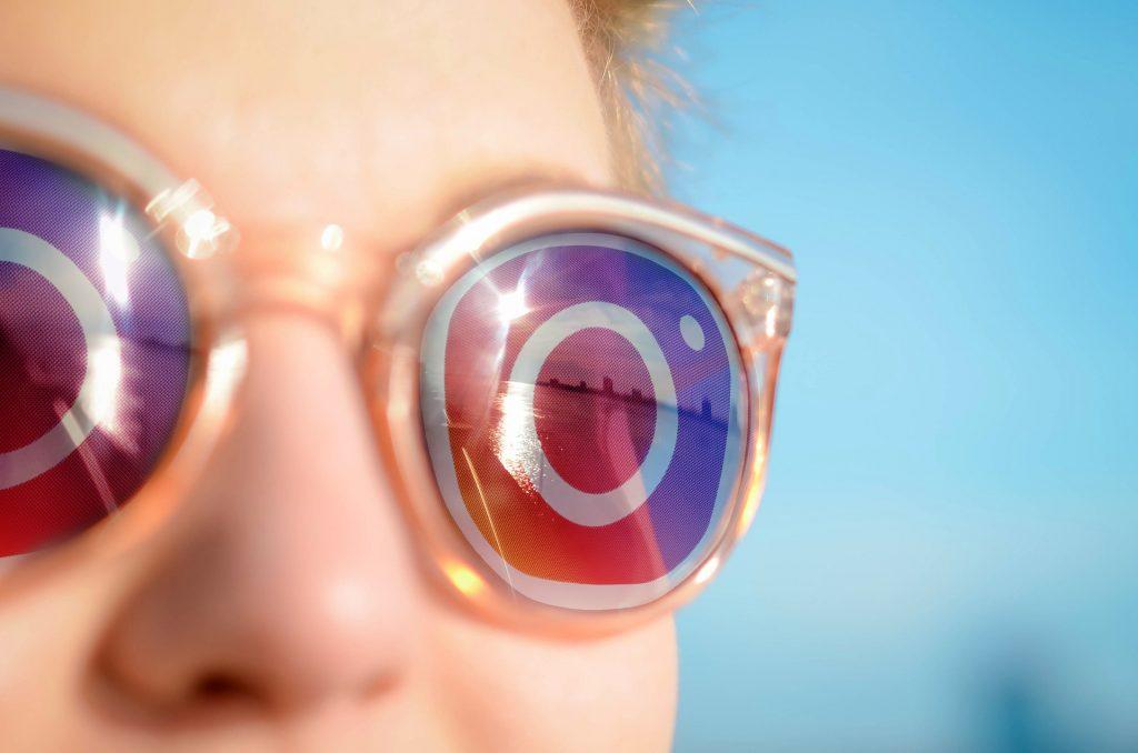 Glasses with Instagram logo