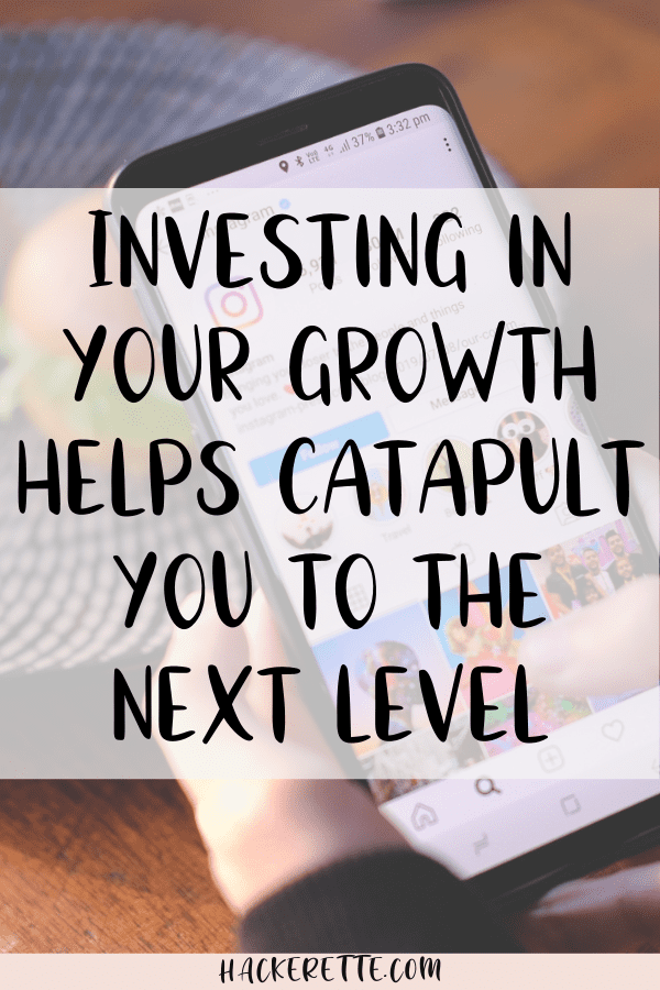 investing in your growth helps catapult you to the next level